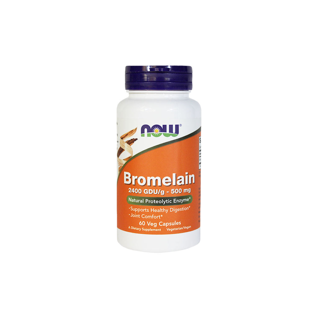 NOW Foods Bromelain, 2400 GDU/g - 500 mg, 60 capsules