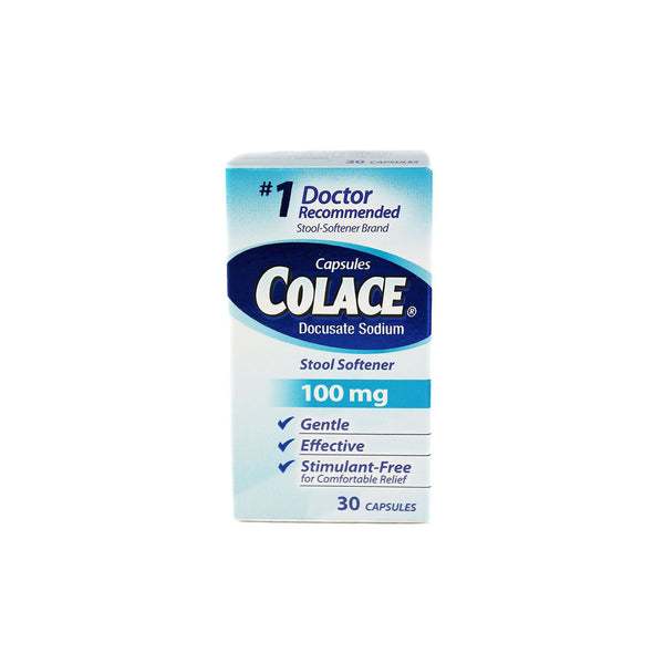 Colace Stool Softener, 100mg, 30 capsules
