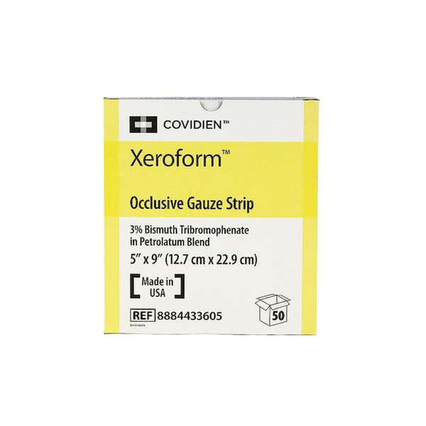 "Covidien Xeroform Occlusive Petrolatum Gauze Dressing, Sterile, ""5 x 9"", box of 50"