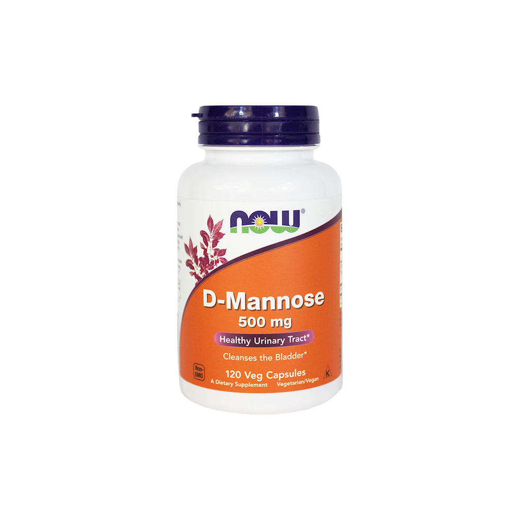 NOW Foods D-Mannose, 500 mg, 120 capsules