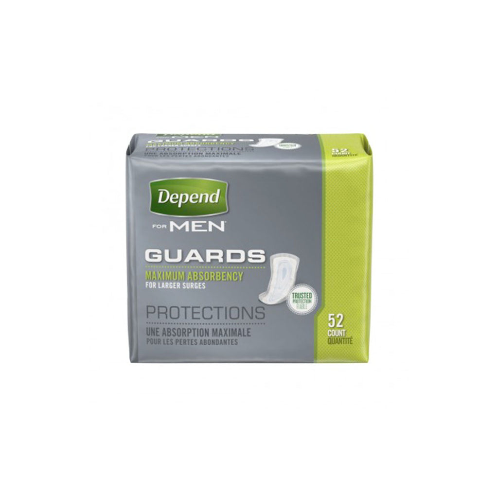 Depend for Men Guards, Maximum Absorbency, 52 count