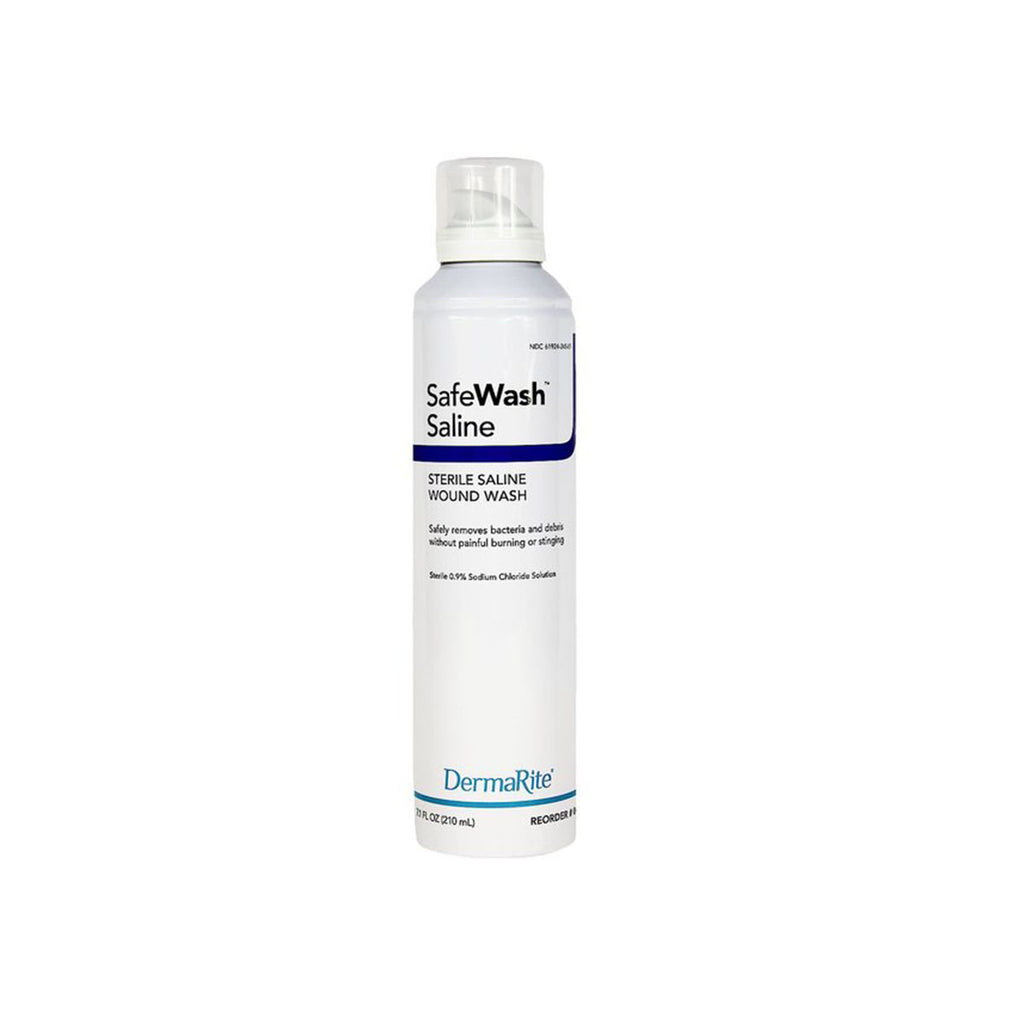DermaRite SafeWash Saline Wound Wash, Sterile, 7.4 oz. spray bottle