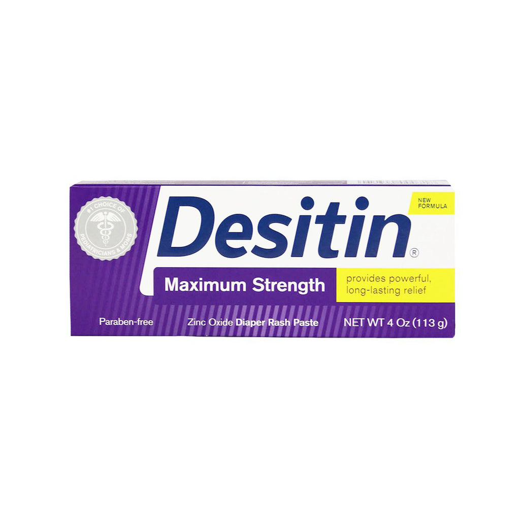 Desitin Maximum Strength Zinc Oxide Diaper Rash Paste, 4 oz.