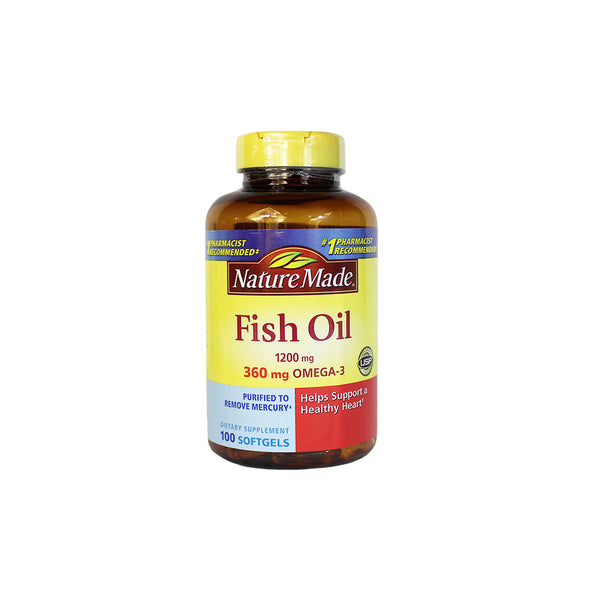 Nature Made Fish Oil, 1200 mg, 100 softgels