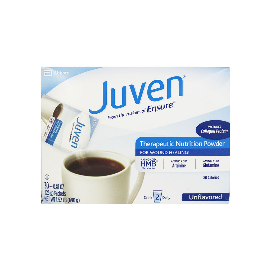 Juven Therapeutic Nutrition Powder, Unflavored, box of 30 - 0.81 oz. (23g) packets