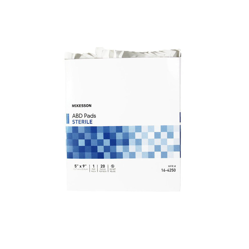 "McKesson ABD Pads, sterile, 5"" x 9"", box of 20"