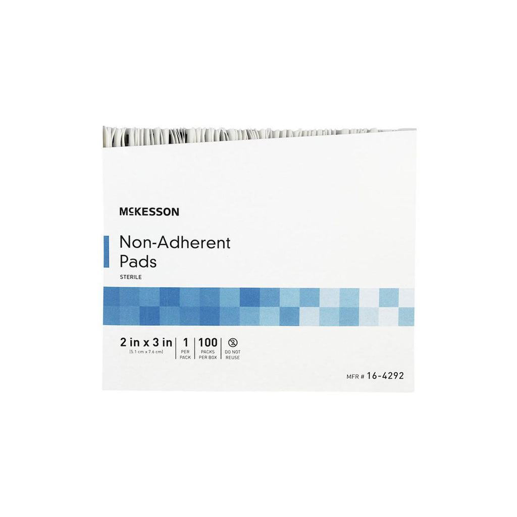 "McKesson Non-Adherent Sterile Pads, 2"" x 3"", box of 100"