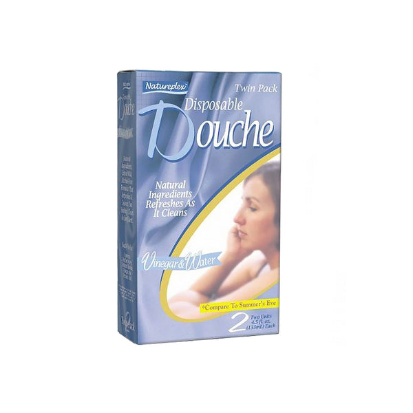 Natureplex Disposable Douche, Vinegar & Water, 4.5 fl. oz., twin pack