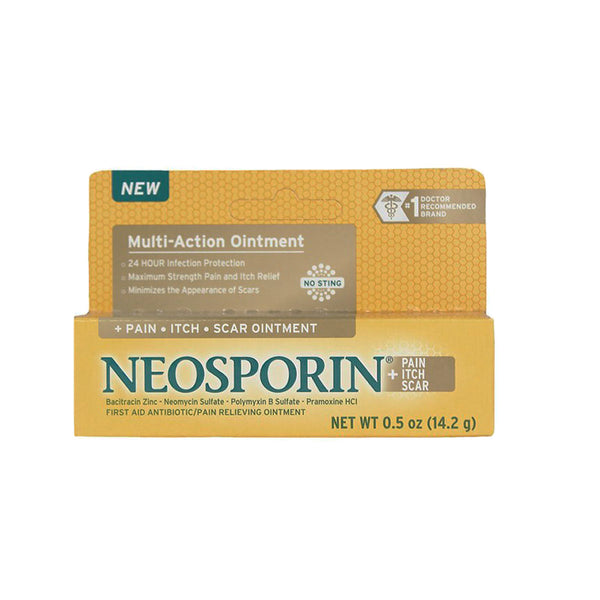 Neosporin First Aid Antibiotic + Pain, Itch, Scar Ointment, 0.5 oz. tube