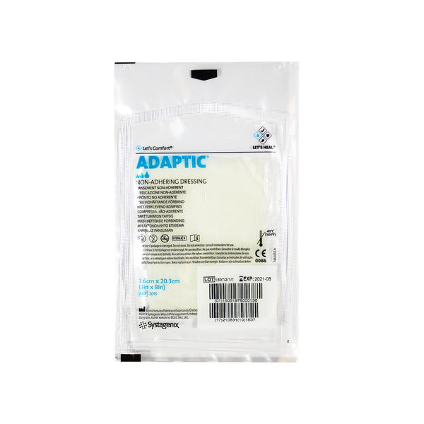 "Systagenix Adaptic Non-Adhering Dressing, sterile, 3"" x 8"""
