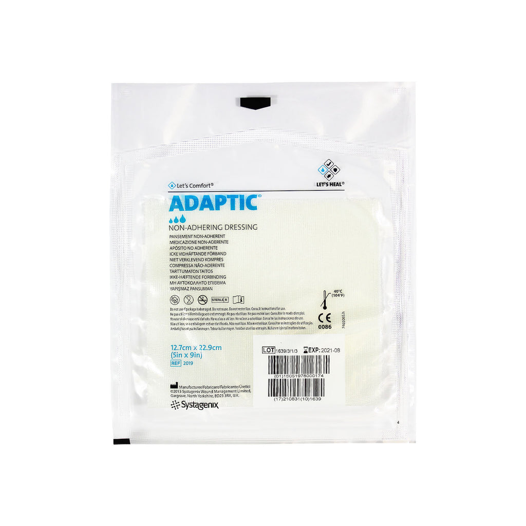 "Systagenix Adaptic Non-Adhering Dressing, sterile, 5"" x 9"""