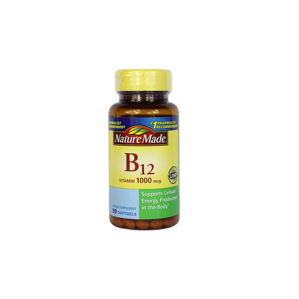 Nature Made Vitamin B12, 1000 mcg, 90 softgels