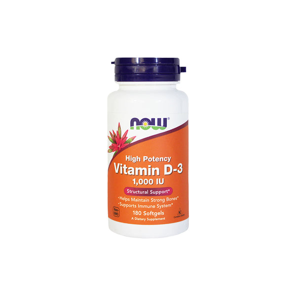NOW Foods Vitamin D-3, 1,000 IU, 180 softgels