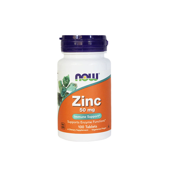 NOW Foods Zinc, 50 mg, 100 tablets