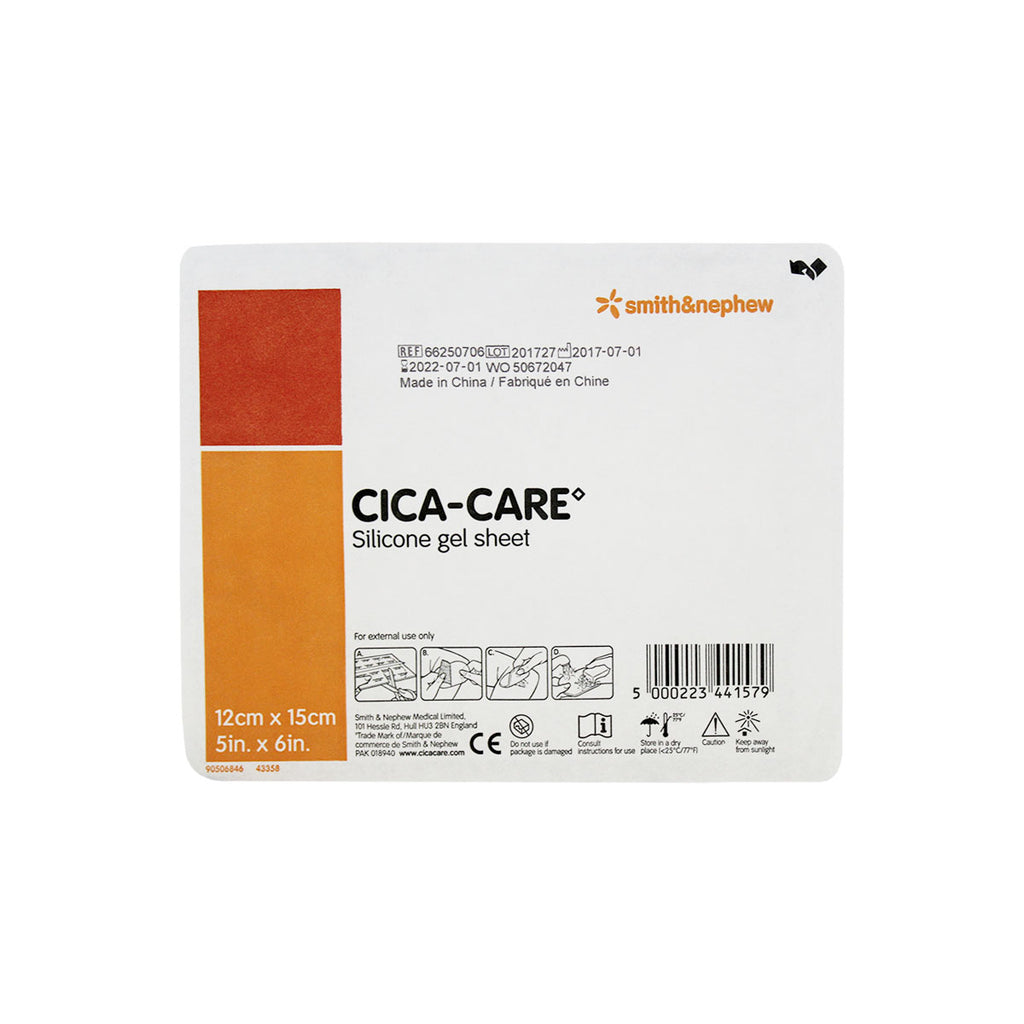 "Cica-Care Silicone Gel Sheet, 5"" x 6"", sterile"