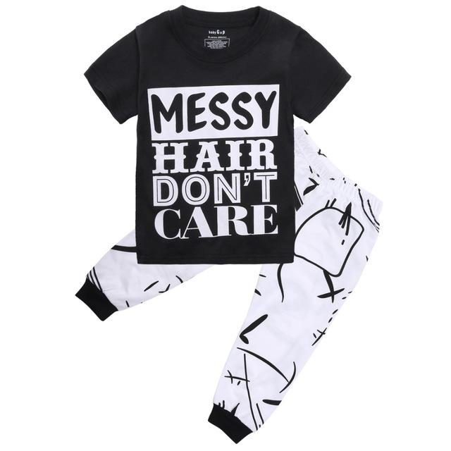 Boys Messy Hair Don't Care set