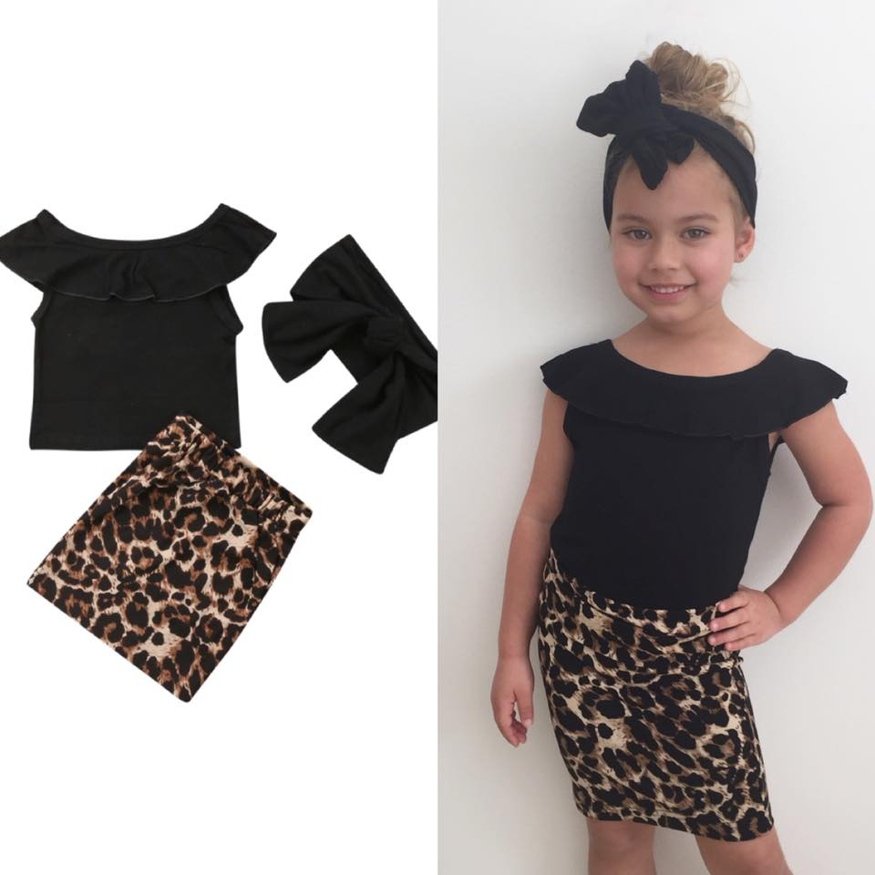 Girls Leopard Set - Lillys little luxuries