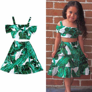 Palm leaf skirt set - Lillys little luxuries