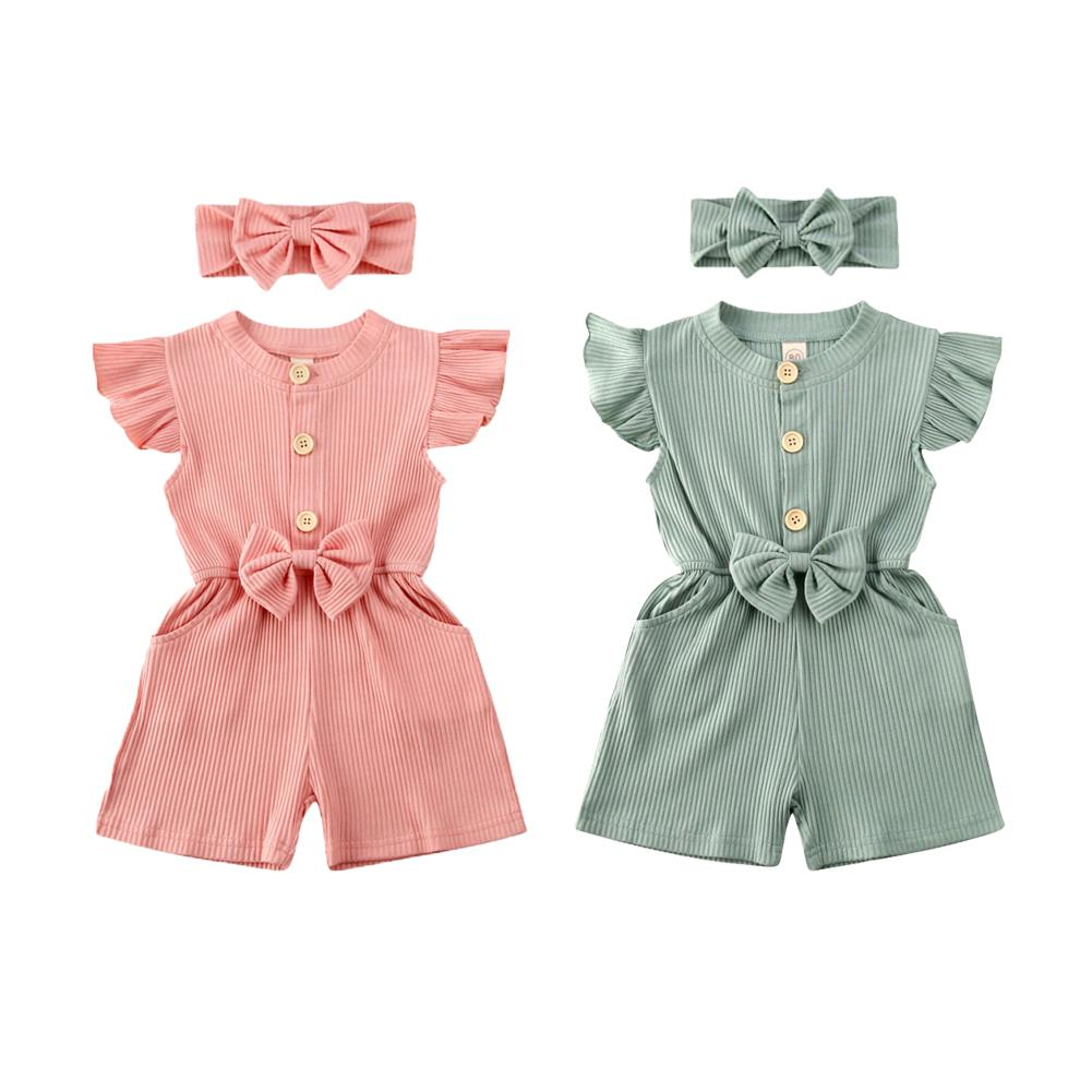 Fly sleeve ribbed playsuits - Lillys little luxuries