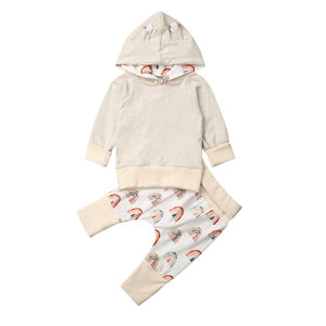 Rainbow hooded set - Lillys little luxuries