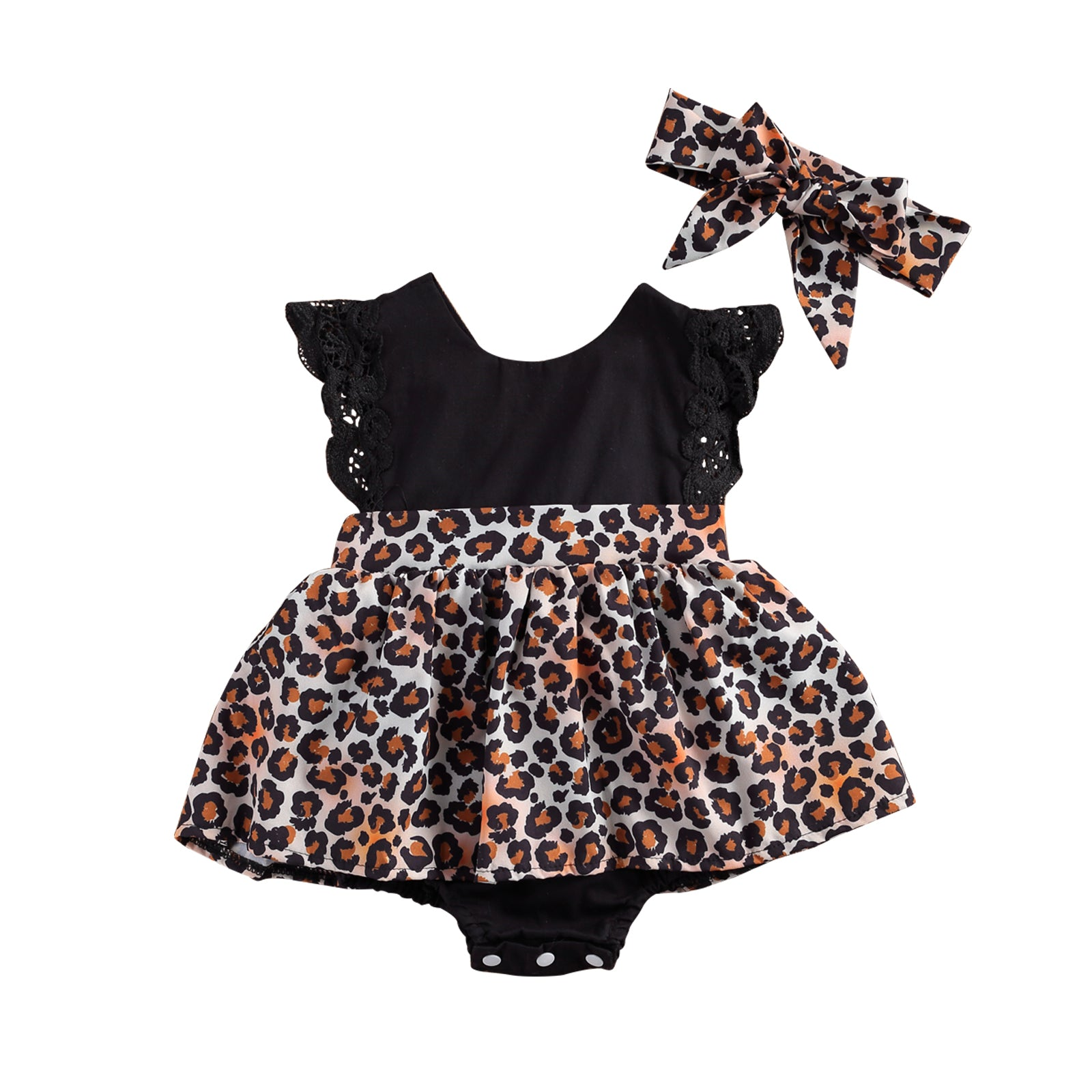 Leopard Romper dress