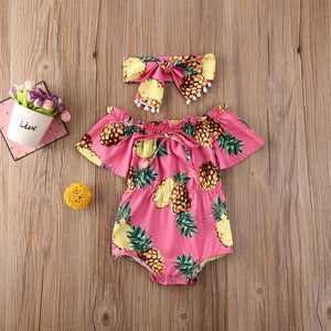 Pineapple Romper - Lillys little luxuries