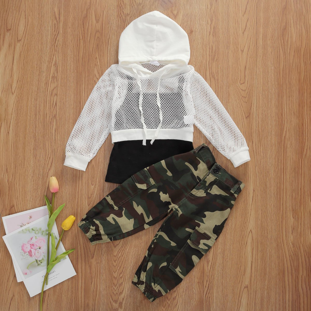 Camo mesh hooded set - Lillys little luxuries