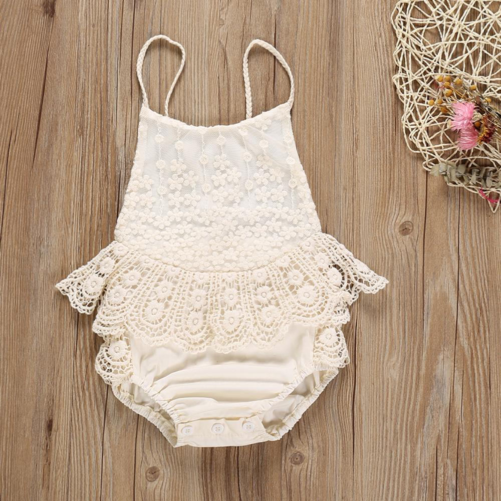 Lace sunsuit romper