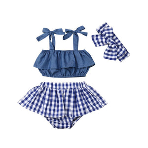Denim plaid set - Lillys little luxuries