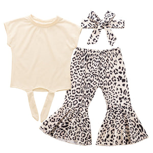 Leopard flare set - Lillys little luxuries