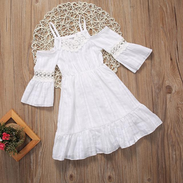 Boho white lace dress - Lillys little luxuries
