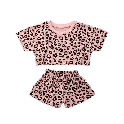 Leopard crop set - Lillys little luxuries