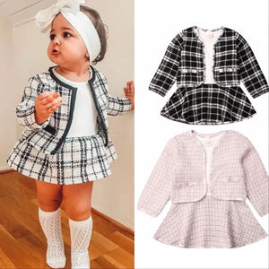 Maddison Plaid Skirt set - Lillys little luxuries