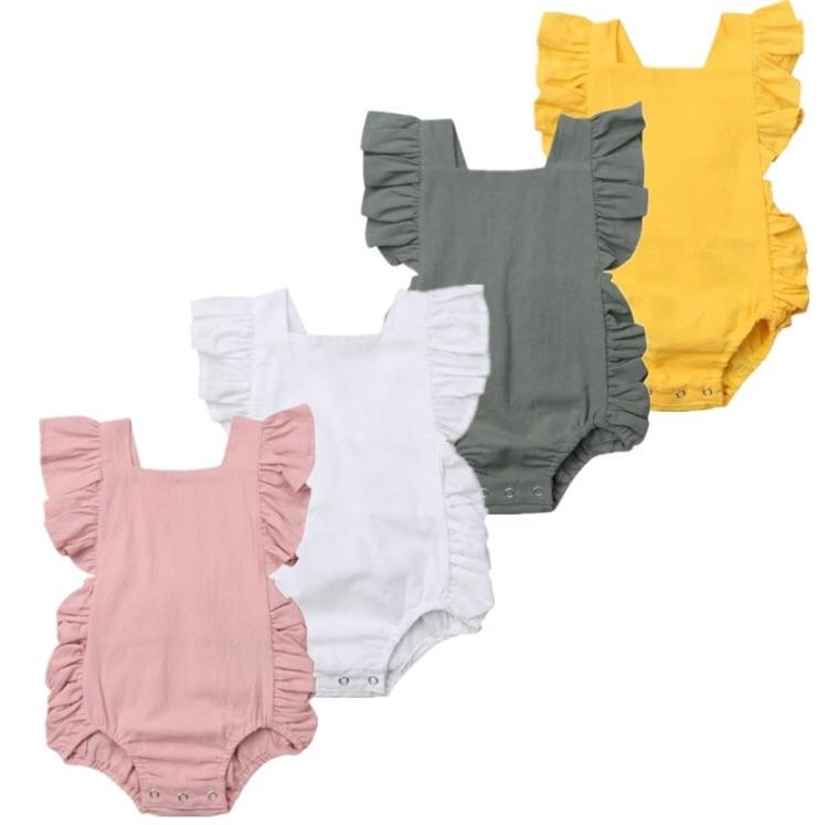 Basic frill rompers - Lillys little luxuries