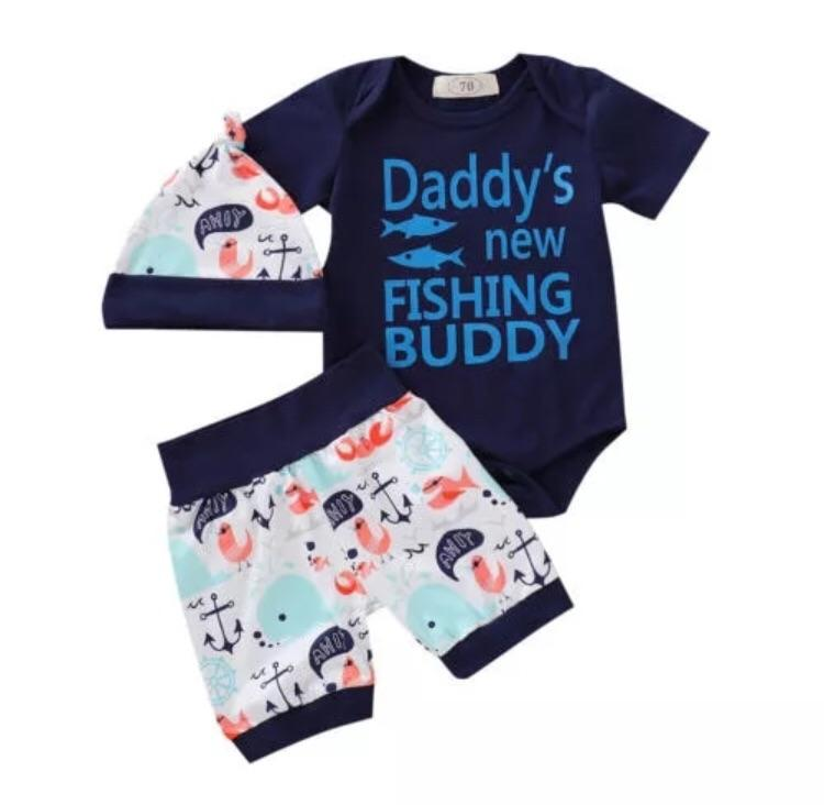 Daddys new fishing buddy set