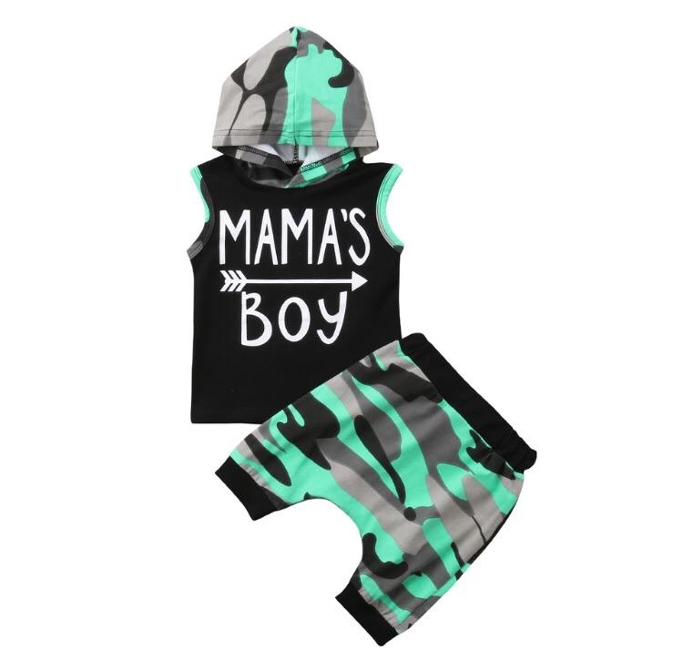 Mamas boy camo green - Lillys little luxuries