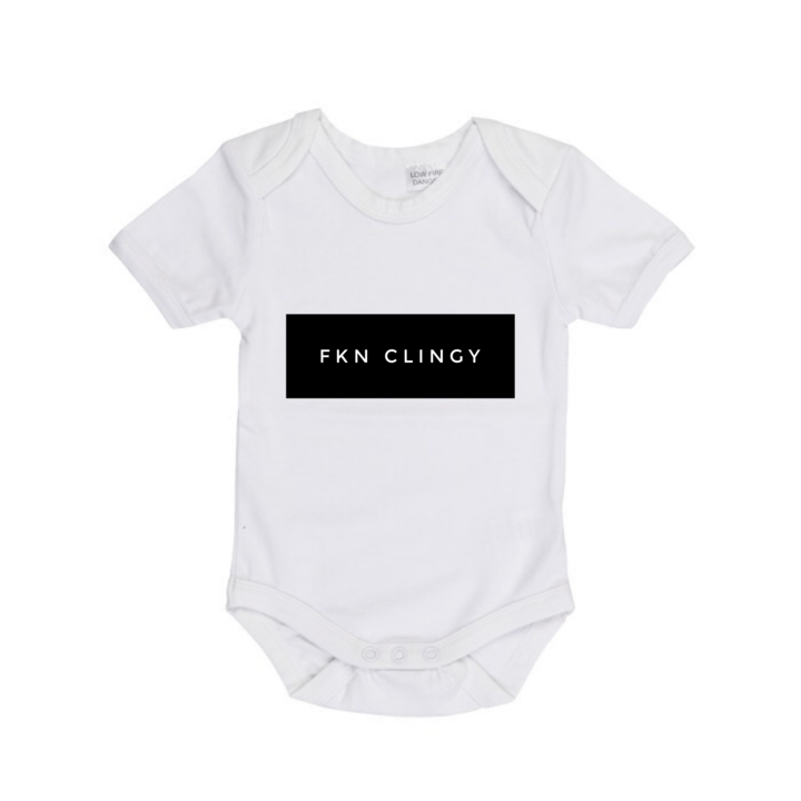MLW By Design - FKN Clingy Bodysuit Short Sleeve | White or Black - Lillys little luxuries
