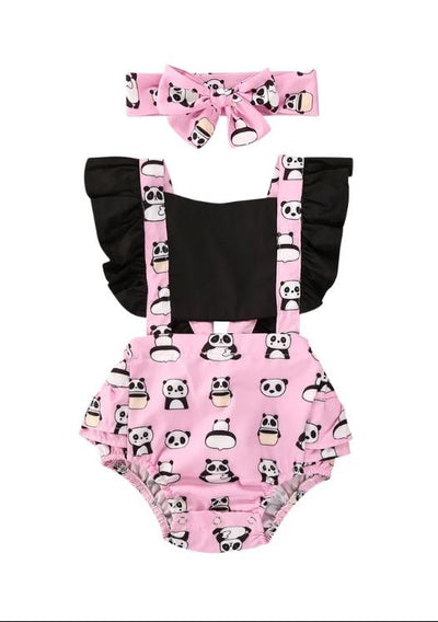 Panda romper - Lillys little luxuries
