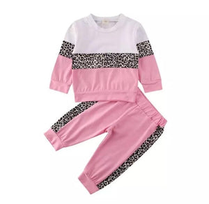Pink leopard tracksuit - Lillys little luxuries