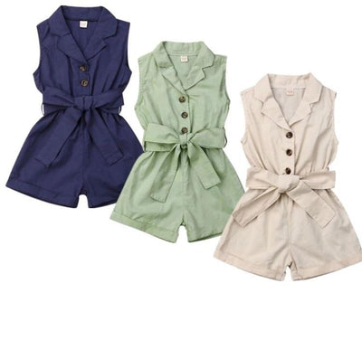 Button Rompers - Lillys little luxuries