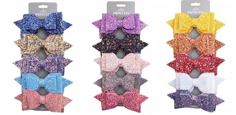 Glitter bow clips - Lillys little luxuries