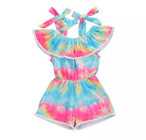 Rainbow playsuit - Lillys little luxuries