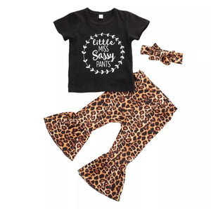 Leopard Sassy pants set - Lillys little luxuries