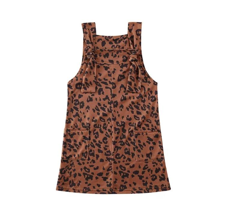 Leopard braces dress - Lillys little luxuries