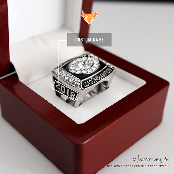 Fantasy Football League (2018) - CUSTOM NAME Championship Ring