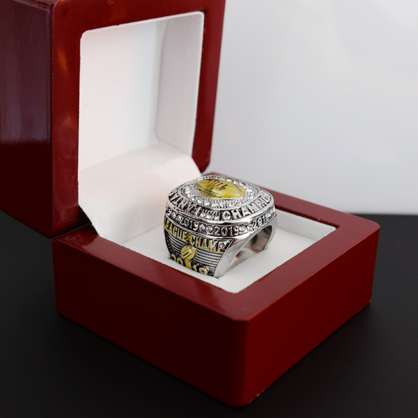 Fantasy Football League (2019) - CUSTOM NAME Championship Ring (Golden Football)