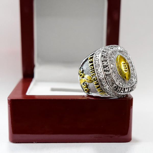 Fantasy Football League (2020) - CUSTOM NAME Championship Ring (Golden Football)