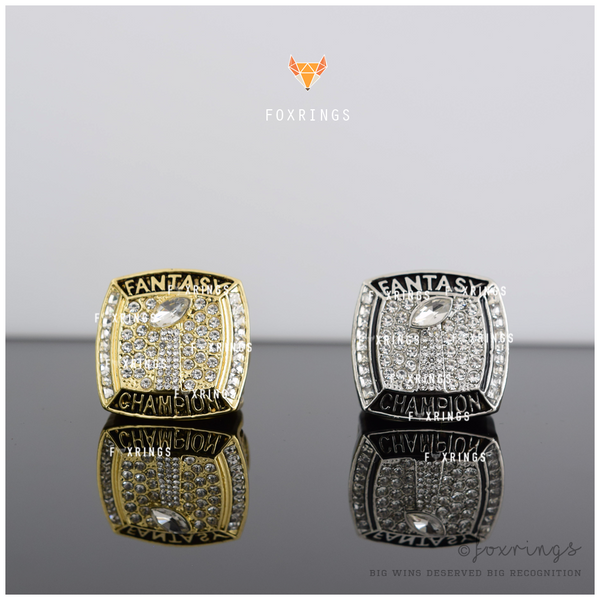 PREMIUM FFL - Fantasy Football League (2018) BUNDLE - Championship Rings [2 Ring Set / Gold, Silver]