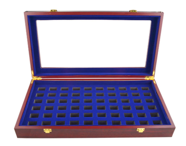 Championship Ring Wooden Display Box (53 Slot Box)