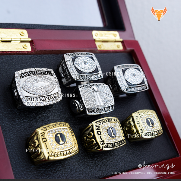 Fantasy Football League (2011/2012/2013/2014/2015/2016/2017) - Championship Rings [7 Ring Set]